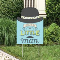 Dashing Little Man Mustache Party - Party Decorations - Birthday Party or Baby Shower Welcome Yard Sign