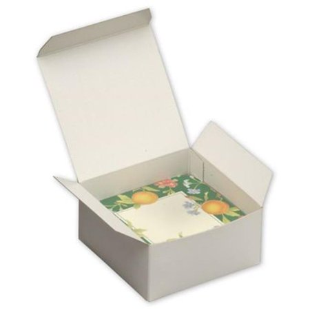 Deluxe Small Business Sales 250-040402C-9 2 x 4 x 4 in. One-Piece Gift Boxes, White](Small Gift Box)