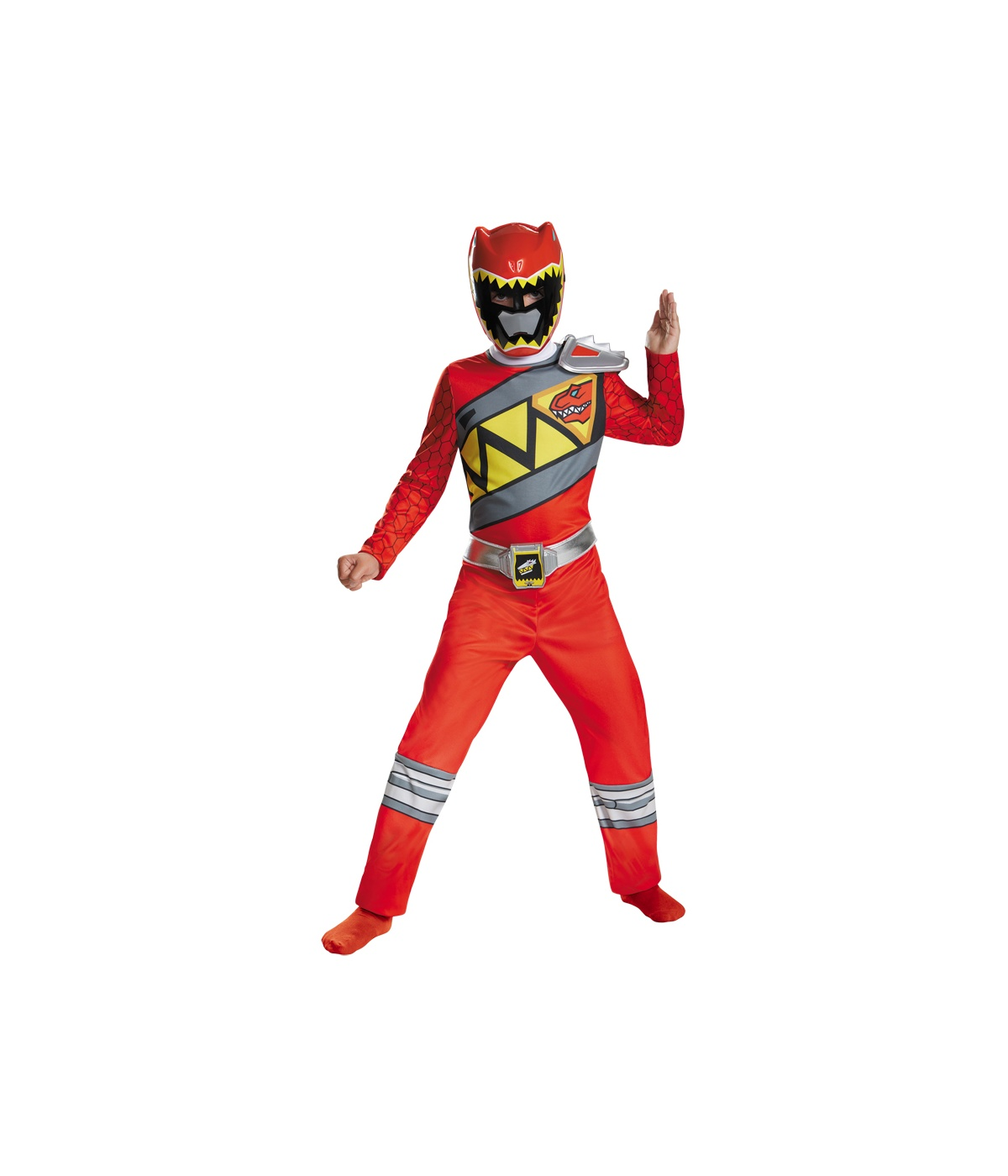 Dino Charge Power Rangers Red Ranger big Boys Costume by