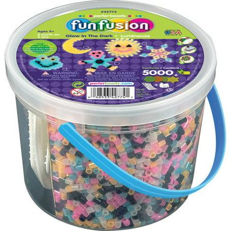 Perler FunFusion Bead Bucket - Glow-in-the-Dark](Perler Bead Halloween Designs)