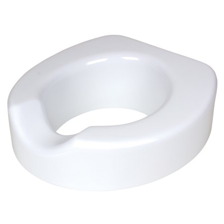 Carex Raised Toilet Seat, 4-Inch Quick-Lock Toilet Seat - Adjustable Raised Toilet Seat