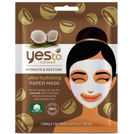 (2 pack) Yes To Coconut Ultra Hydrating Moisturizing Mud Mask, Single Use Face