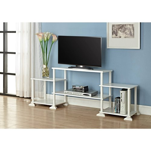 white tv stand walmart Mainstays No Tool Assembly 3 Cube Entertainment Center for TVs up  white tv stand walmart