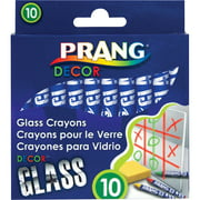 Prang Decor Glass Crayons, Assorted, 10 / Box (Quantity)