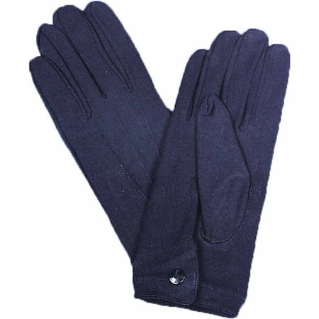Black Nylon Gloves with Snap Adult Halloween Accessory - Snap Judgment Halloween