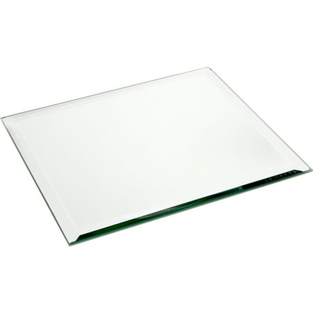 Plymor Square 5mm Beveled Glass Mirror, 8 inch x 8 inch ()