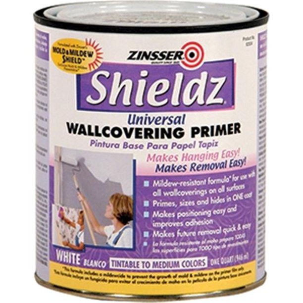 Zinsser Company 2504 1 Quart Water Base Shieldz White Walmart Com Walmart Com