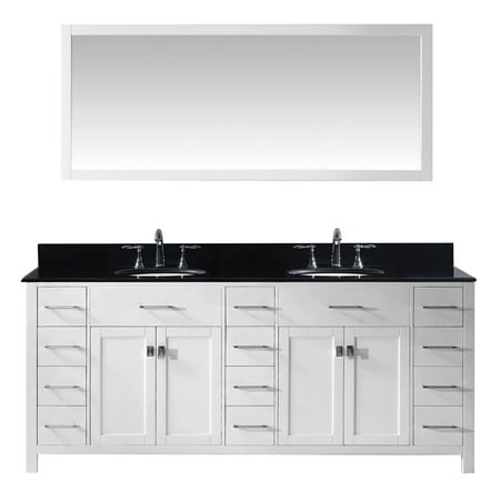Virtu Md 2178 Bgro Wh 002 Caroline Parkway 78 Inch Double Bathroom Vanity Set In White