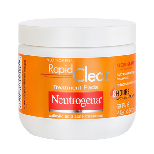 Neutrogena Acne Rapid Clear Daily Treatment Pads - 60 Ea, 6 Pack