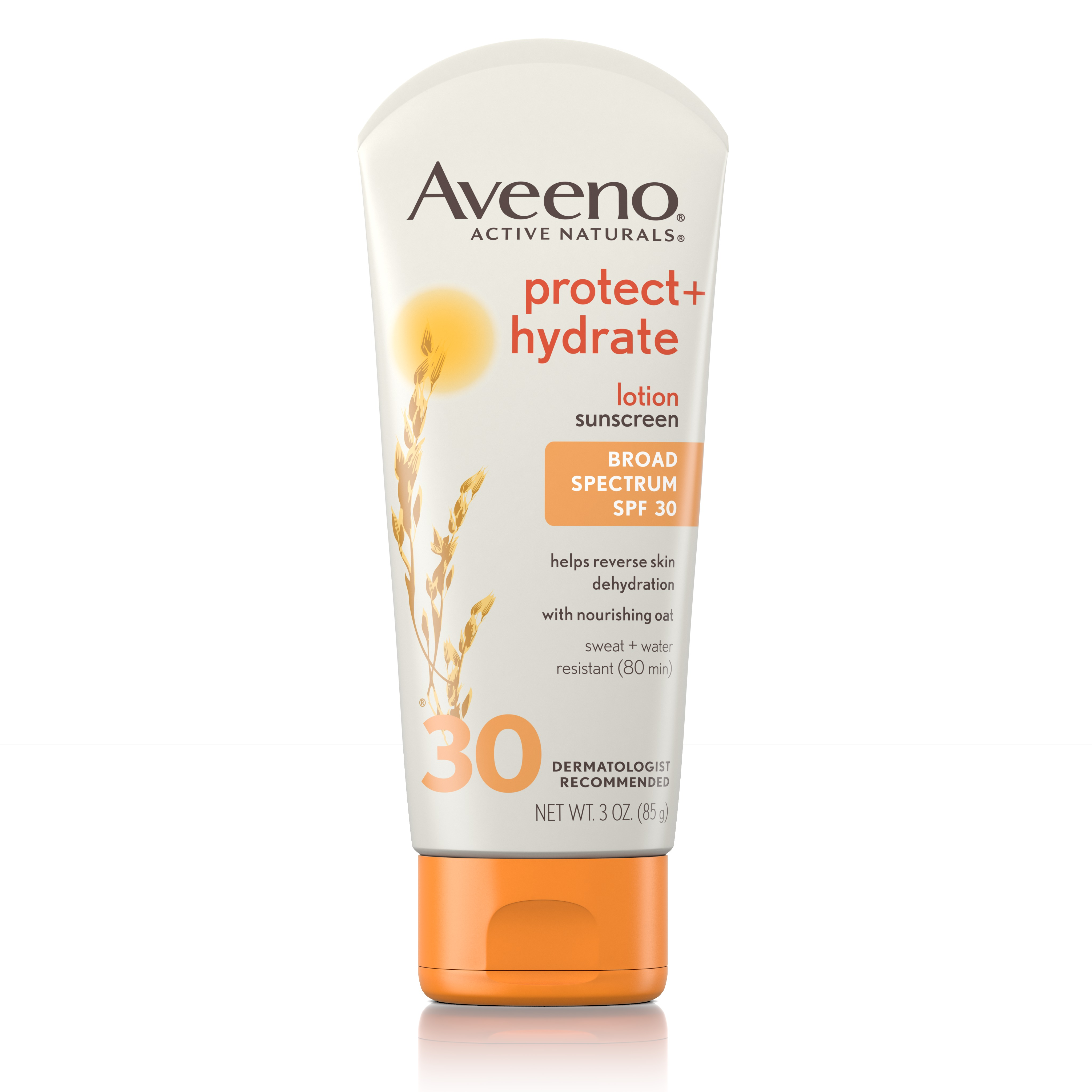 Aveeno Protect + Hydrate Moisturizing Sunscreen Lotion, SPF 30, 3 oz