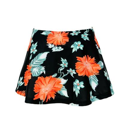 Womens High Waist Swim Skirt Bikini Bottom Swimwear Summer Beach Briefs Bottoms ()