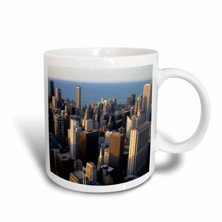 3dRose Lake Michigan waterfront, Chicago, Illinois - US14 DFR0138 - David R. Frazier, Ceramic Mug, 11-ounce