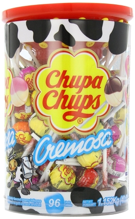 Chupa Chups Cremosa Lollipops, (Pack of 96) by