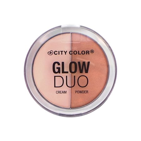 (3 Pack) CITY COLOR Glow Duo Highlight Cream/Powder