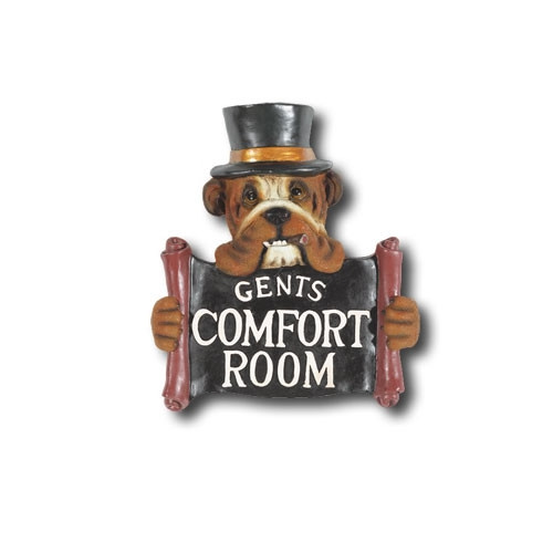 RAM Game Room Hand-Carved Gents Comfort Room Sign