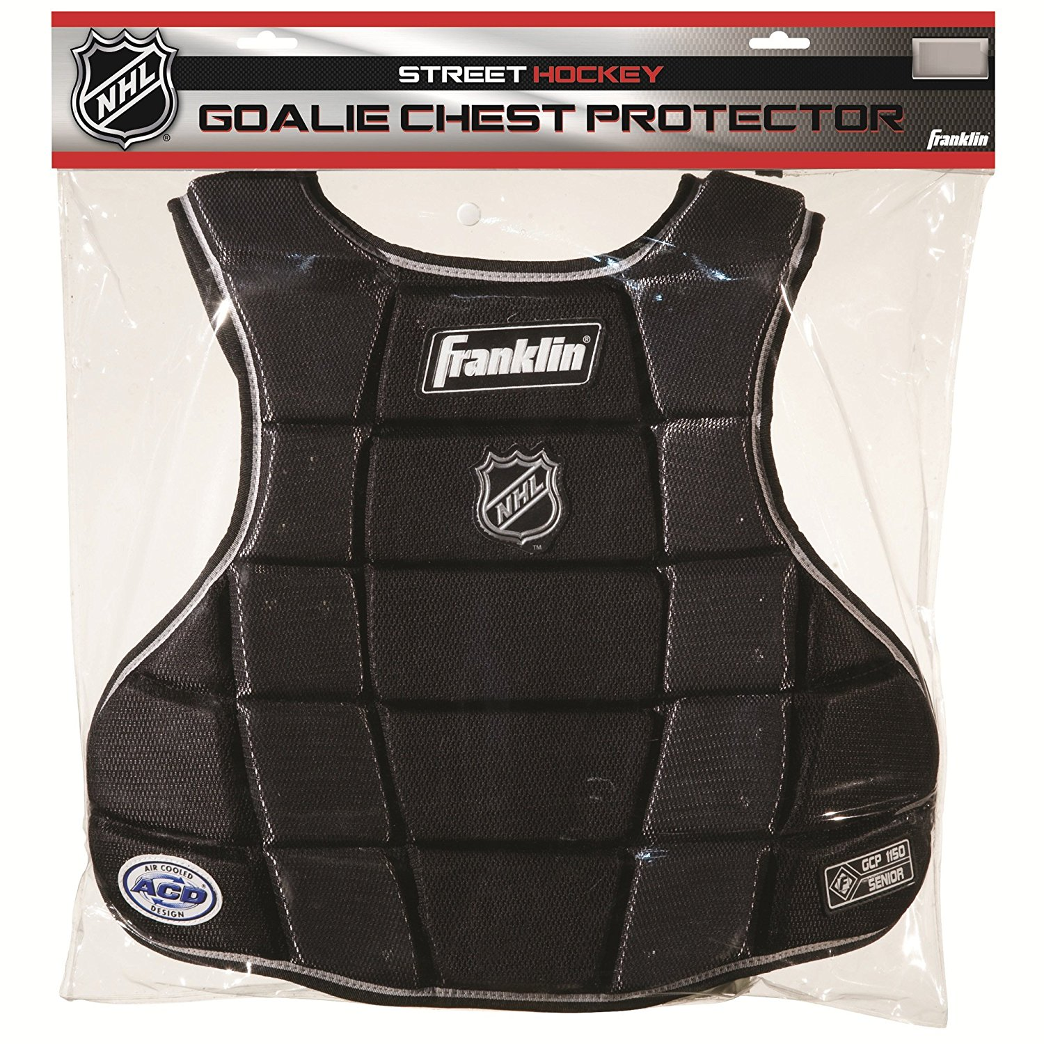 NHL SX Pro GCP 1150 Goalie Chest Protector, Senior, National Hockey League License By Franklin Sports by
