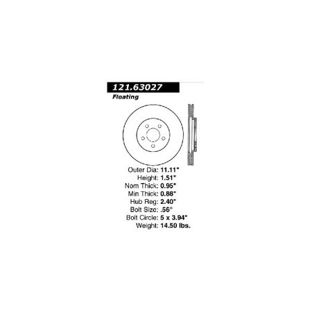 Gt Brake Lines - Go-Parts OE Replacement for 1989-1995 Chrysler LeBaron Front Disc Brake Rotor for Chrysler LeBaron (Base / GT / High Line / Premium)