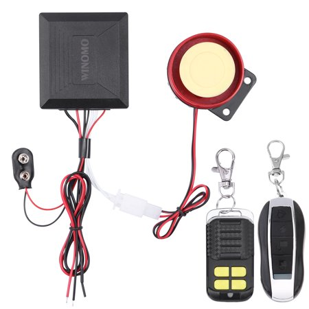 WINOMO 12v Universal Motorcycle Motorbike Scooter Anti Theft Security Alarm System with Double Remote Control