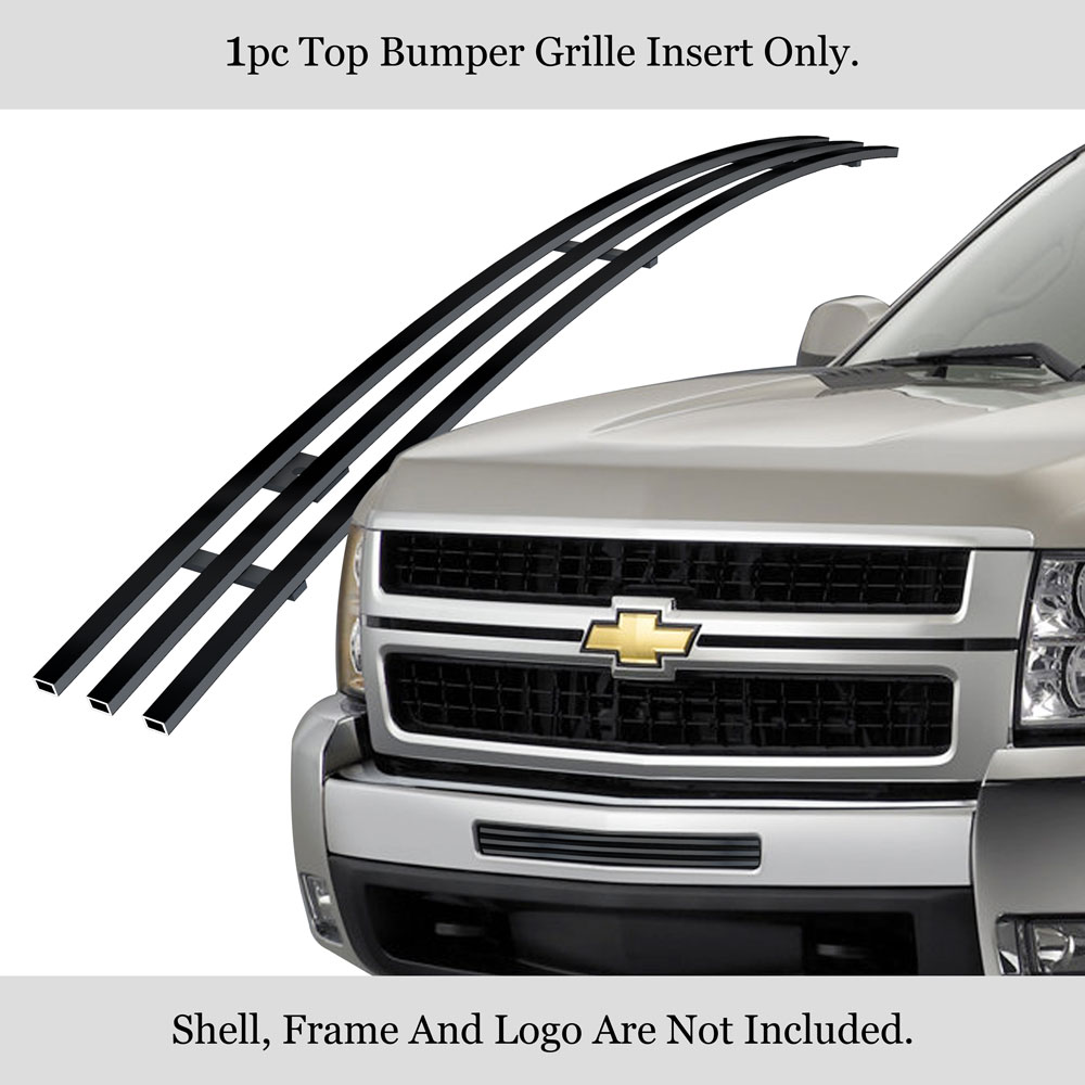 APS Compatible with 03-06 Chevy Silverado 1500 2500 Bumper Billet Grille Combo C87944A
