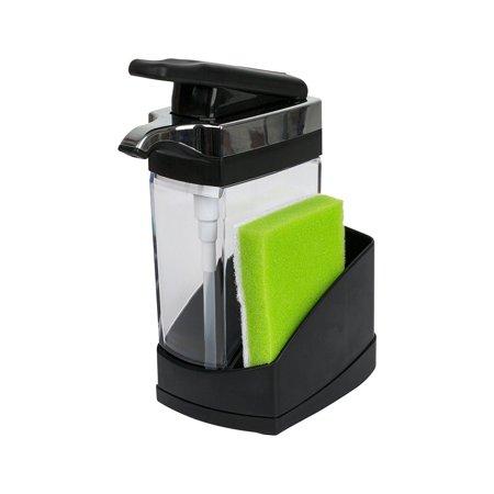 Casabella Sink Sider Solo with Sponge Chrome Plating, Black ()