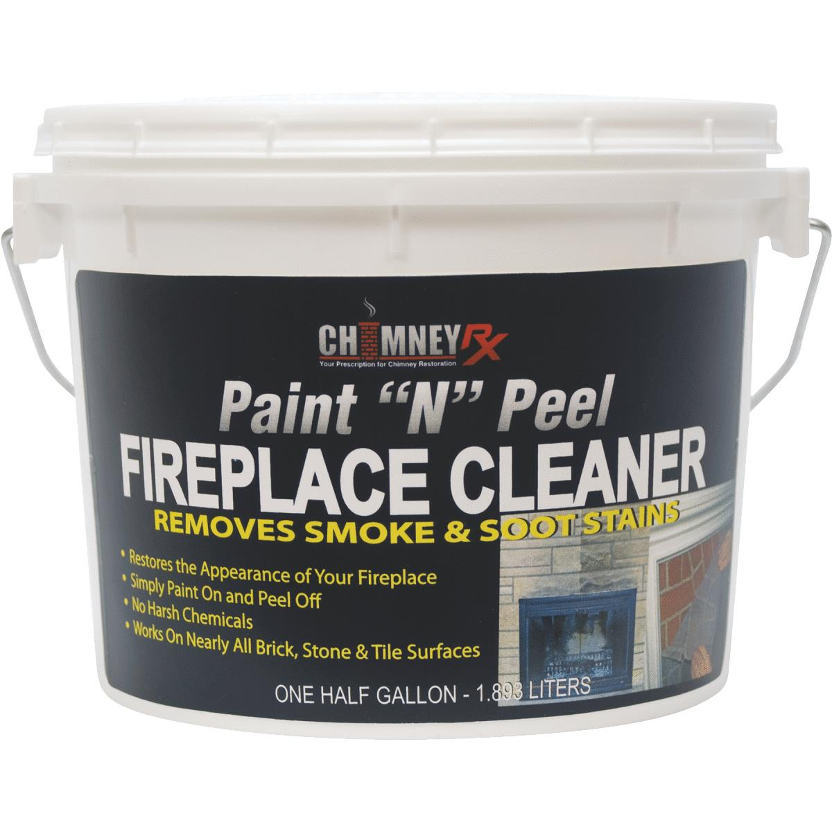 Chimney RX Paint N Peel Fireplace Masonry Cleaner