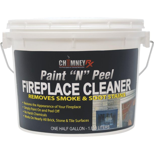 Chimney Rx Paint N Peel Fireplace Masonry Cleaner Walmart Com
