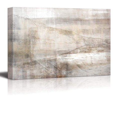 wall26 Sharp Deserted Hills with a Bronze Dusty Texture Over It - Canvas Art Home Decor - 32x48 inches