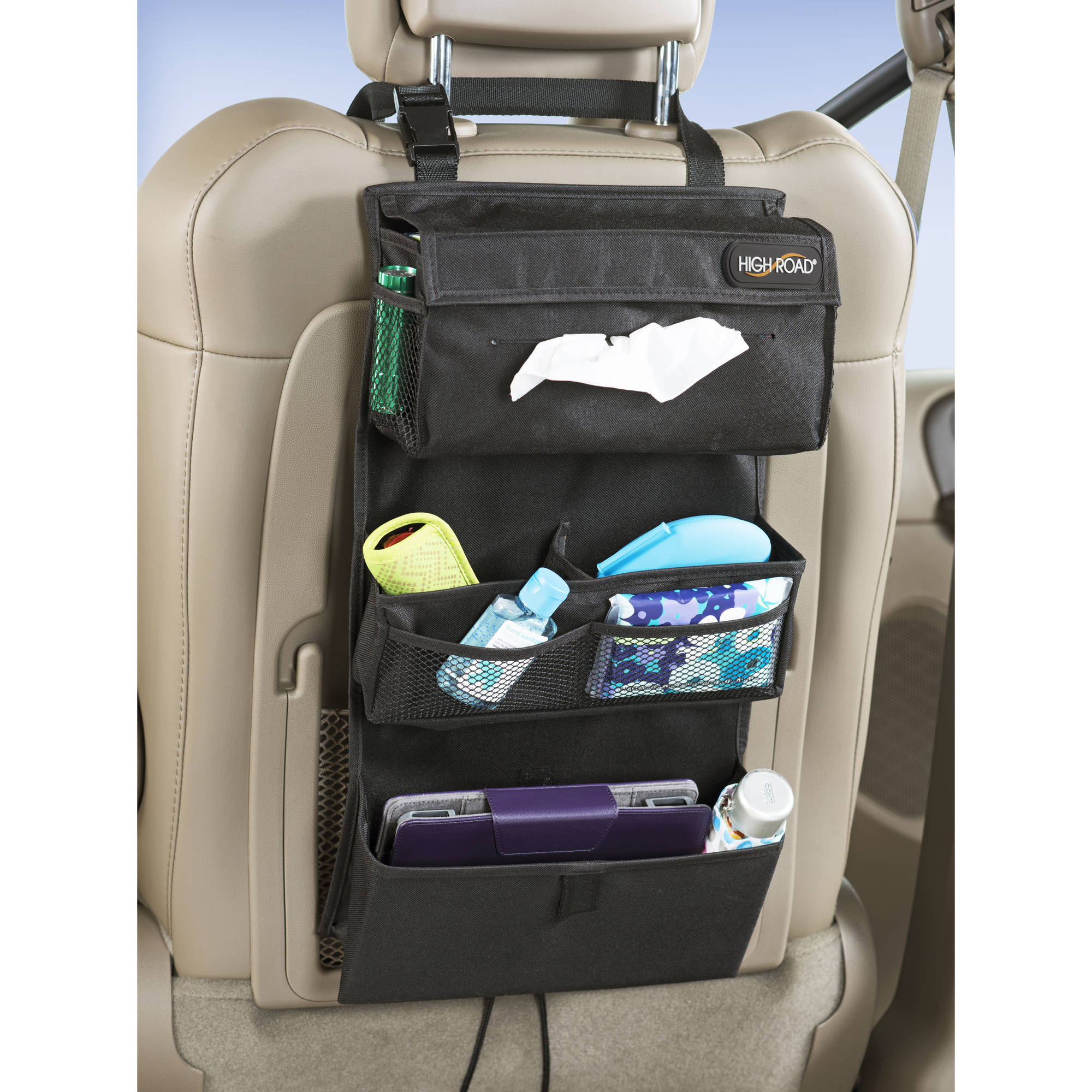 High Road Car Back Seat Organizer and Tissue Holder