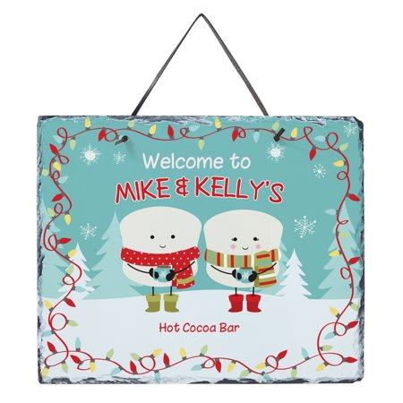 Personalized Lovable Marshmallow Holiday Slate - Couple-Available in 3 (3 Slate)