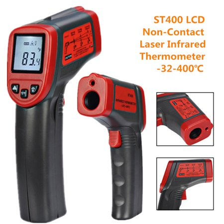 Infrared Temperature Gauge - LCD Digital ST400 Non-Contact Laser IR Infrared Thermometer Temperature Meter measuringdevice Gun -32-400℃