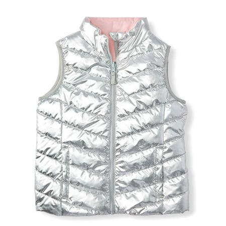 Wonder Nation Reversible Puffer Vest (Little Girls, Big Girls & Plus)