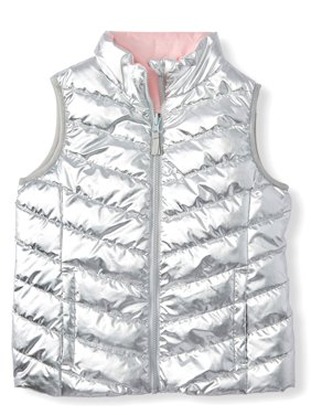 Wonder Nation Reversible Puffer Vest (Little Girls, Big Girls & Plus)