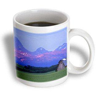 3dRose Rustic barn, wheat field, Teton Mountain Range, Idaho - US13 CHA0079 - Chuck Haney, Ceramic Mug, 11-ounce