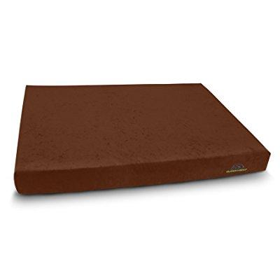 comfort deluxe, medium memory foam dog bed, utilizes cutt...