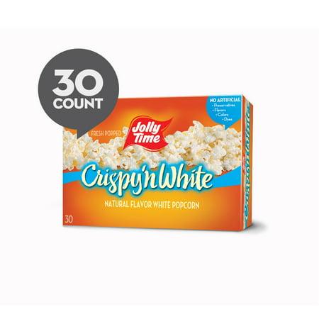 Jolly Time Microwave Popcorn, Crispy 'n White, 30 Bags, 3 Oz