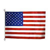 American Flag 8x12 ft. Nylon SolarGuard Nyl-Glo , with Sewn Stripes, Embroidered Stars and Roped Heading.
