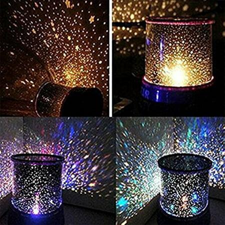 LED Starry Night Sky Projector Lamp Star Light Cosmos Master Kids Gift Indoor Lighting