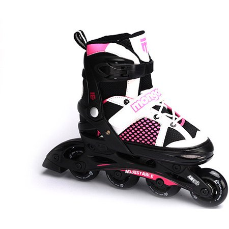 Mongoose MG-087G-S Girls Comfortable Inline Skates, Pink