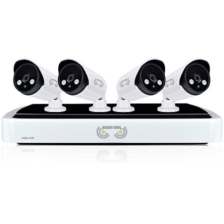 Night Owl Nvr10 441 Full 1080P Network Video Recorder With 1Tb Hdd And 4 Night Vision 1080P Full Hd Ip Cameras