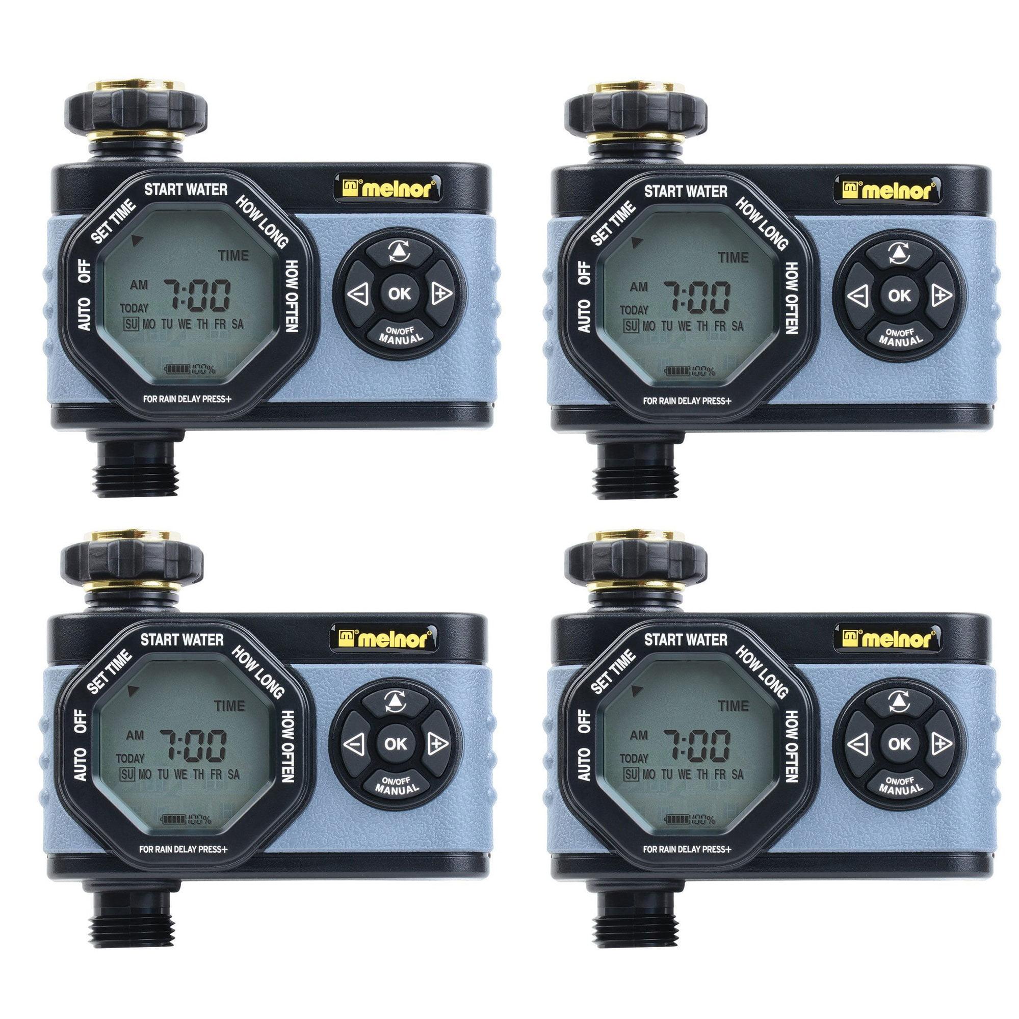 Melnor HydroLogic Digital Programmable Garden Water Timer & Controller (4 Pack) by Melnor