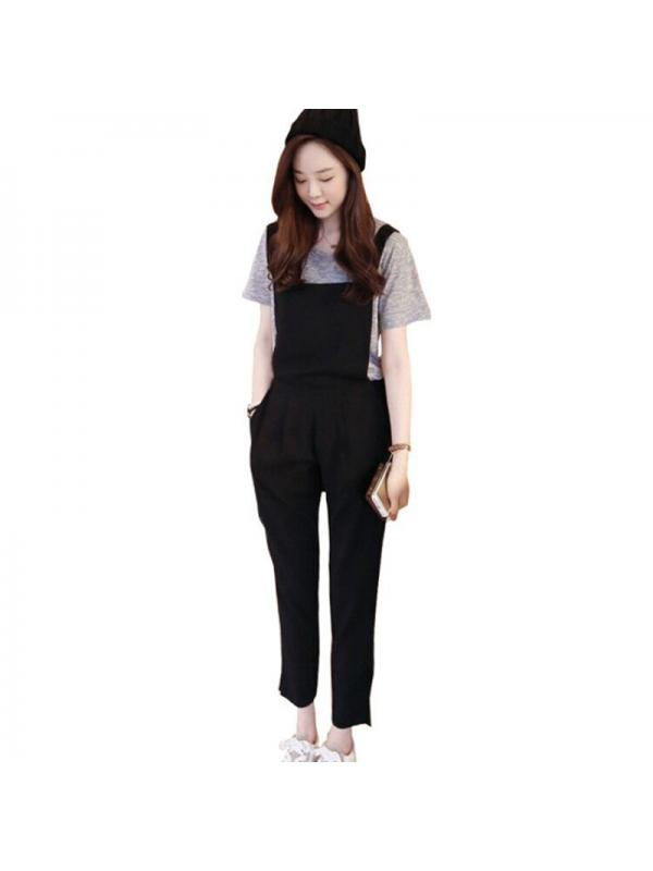 Ropalia Women Casual Loose Jumpsuit Strap Harem Trousers Overalls