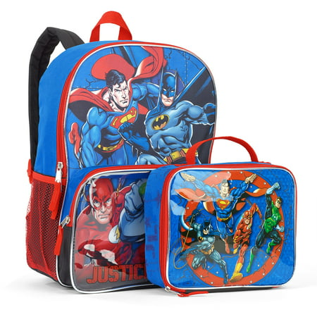 DC Justice League Time Backpack With Lunchbox - Backpack With Lunchbox