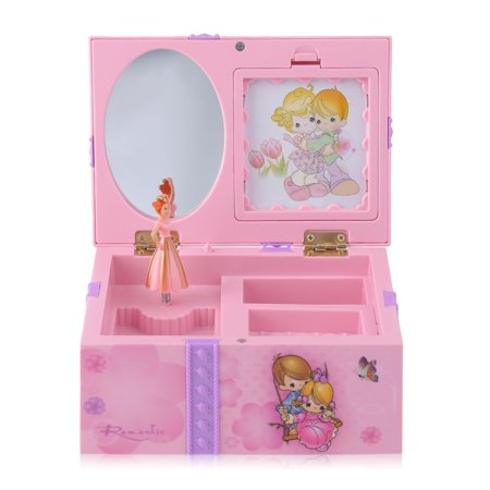 Multifunctional Music Jewelry Box Lovely Birthday Gift Beautiful With Mirror And Ballet Girl Style Wedding Home Accessory