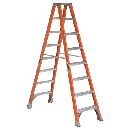Louisville Ladder FM1510 10 ft. Fiberglass Twin Step Ladder, Type IA, 300 Lbs Load Capacity