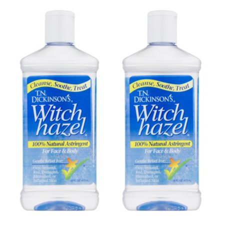 (2 Pack) Dickinson's Witch Hazel Cleansing Astringent, 16 Fl - Cleansing Astringent Towelettes Dickinsons
