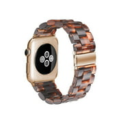 Spencer Apple Watch Replacement Bands for Series 1, 2, 3, & 4- 38mm, 40mm, Resin Tortoise Shell