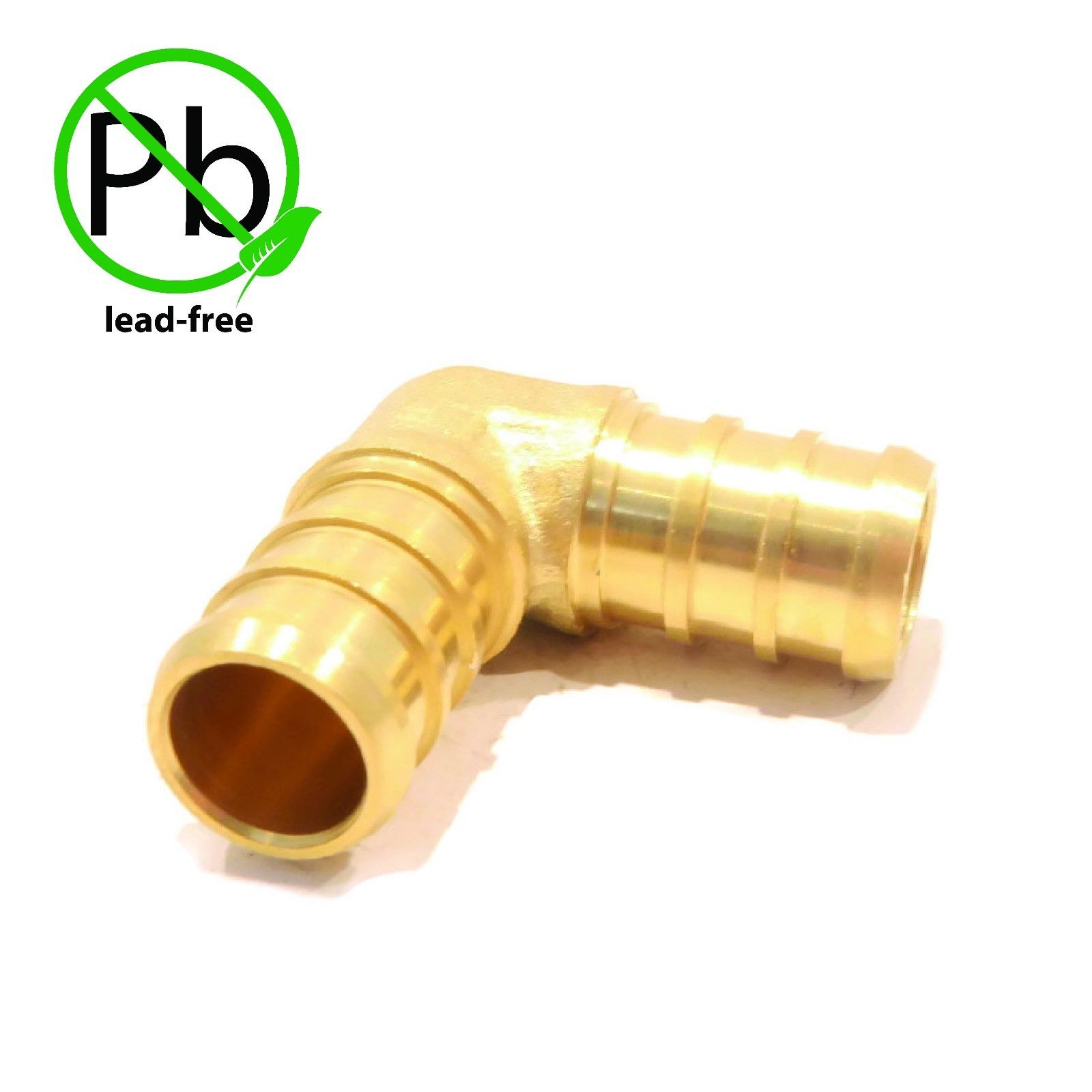 "1/2"" x 1/2"" PEX 90° BRASS LEAD FREE ELBOW Fitting replaces Watts LFWP19B-08PB by The ROP Shop"