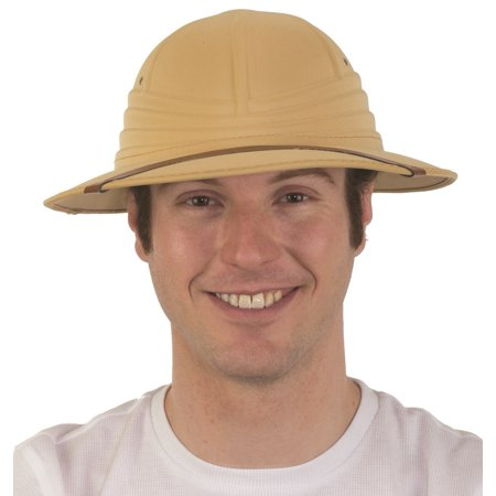 British Foam Pith Helmet Safari Jungle Explorer African Professor Costume Hat