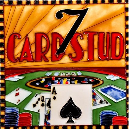 En Vogue B-328 Casino Game - Card Stud - Decorative Ceramic Art Tile - 8 in. x 8 in.