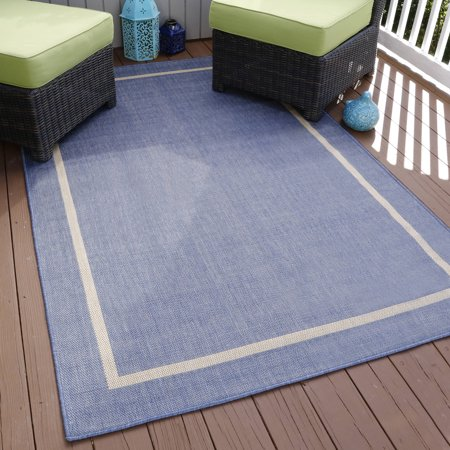 Somerset Home Border Indoor/Outdoor Area Rug, Blue, 5' x 7 ... - photo#16